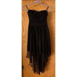 Lush Strapless silk ruffle dress